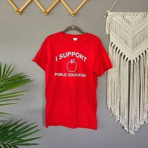Gildan | I Support Public Education tee sz small